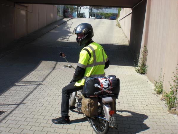 DKW auf der Fahrt ins Elsass