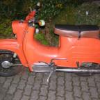 von grün auf orange!!! ist jetzt mein winterkleid!!! wird man besser mit gesehen!!!